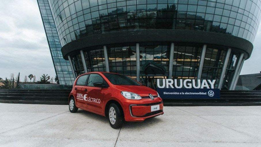 VW e-Up! vai circular pelas ruas do Brasil. (Foto: Divulgação)