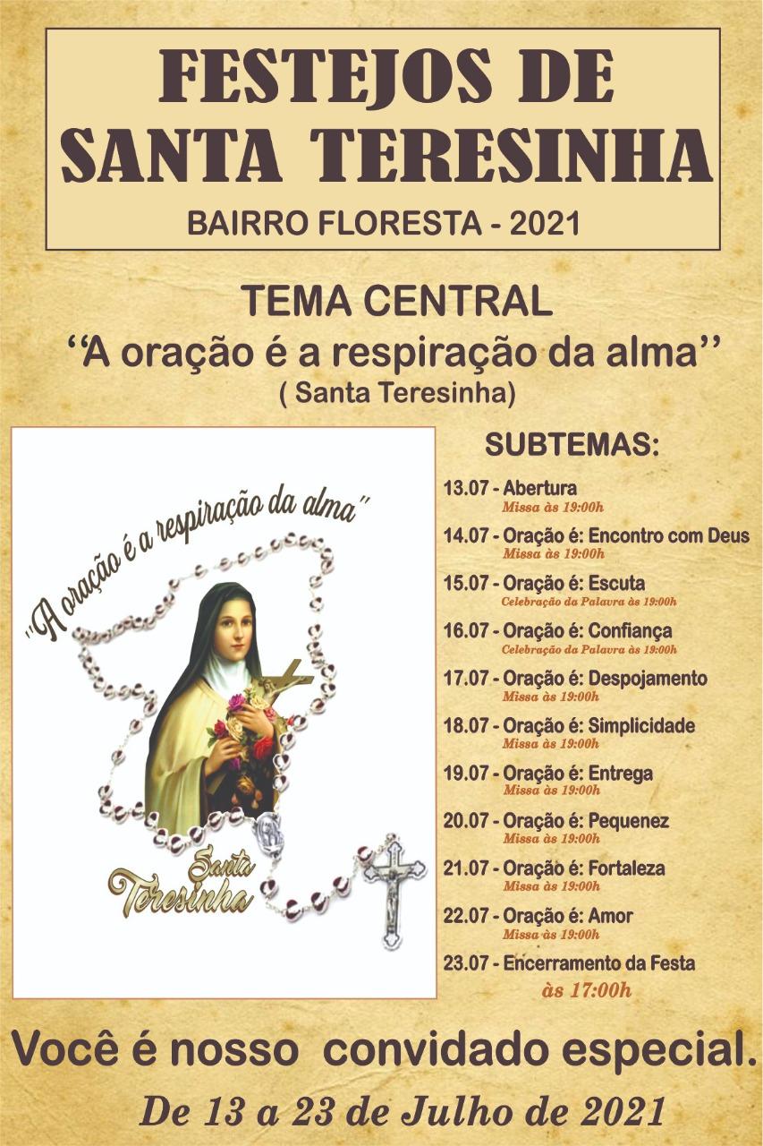 Festejo de Santa Teresinha no bairro Floresta teve início nesta terça(13) - Imagem 1