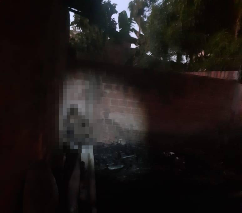 Idoso morre durante incêndio em residência na zona Leste de Teresina (Foto: Portal Meio Norte)