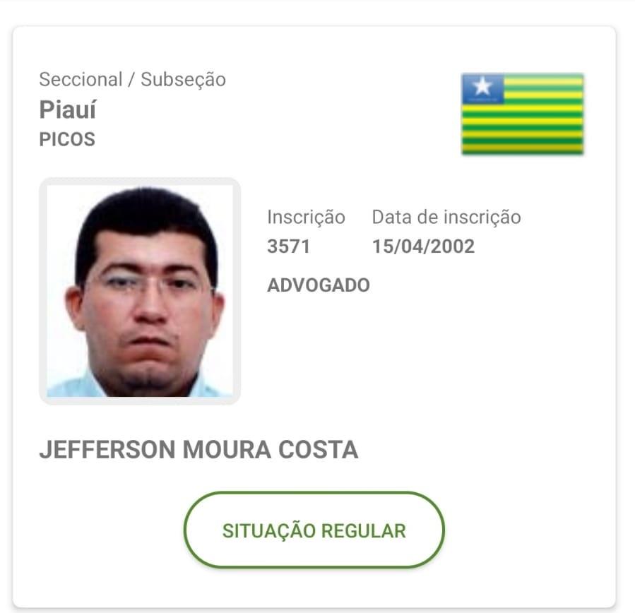 Advogado Jefferson Moura Costa foi preso e conduzido até a Central de Flagrantes - Foto: Reprodução