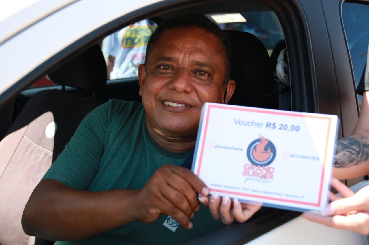 Motoristas de aplicativos abraçaram a ação e ainda levaram prêmios - Foto: Davi Carvalho