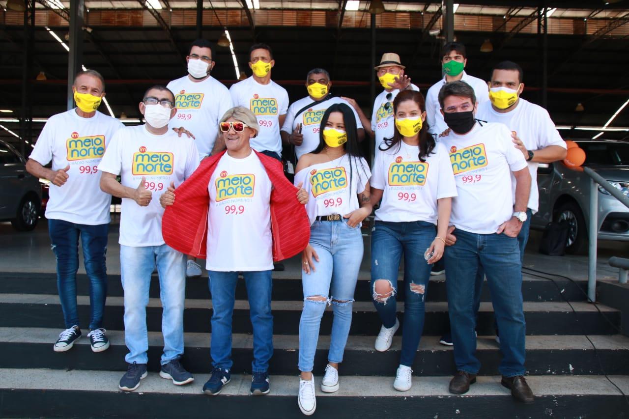 Toda a equipe da Meio Norte FM esteve presente na Blitz- Foto: Davi Carvalho