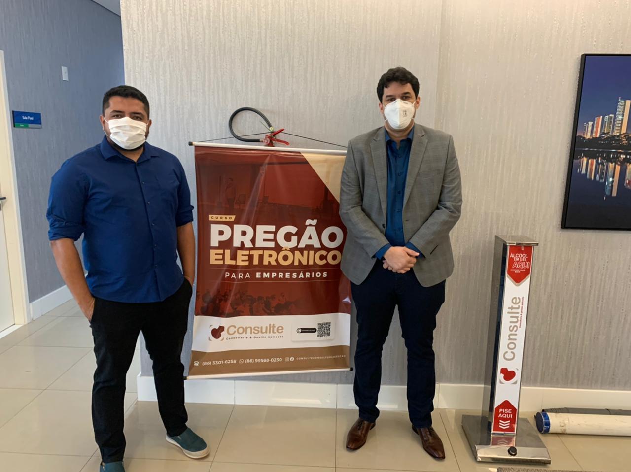 Consultores Malcon Barbosa e Andros Renquel   FOTO: Divulgação