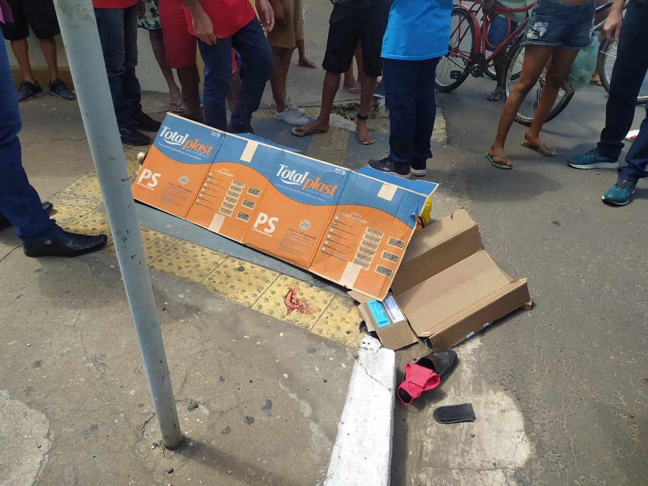DHPP prende acusado de matar motaxista no Centro de Teresina (Foto: Ivan Lima/ Portal MN)