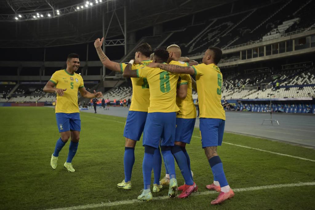 Brasil se classificou para a semifinal da Copa América Foto: Carl de Souza/AFP