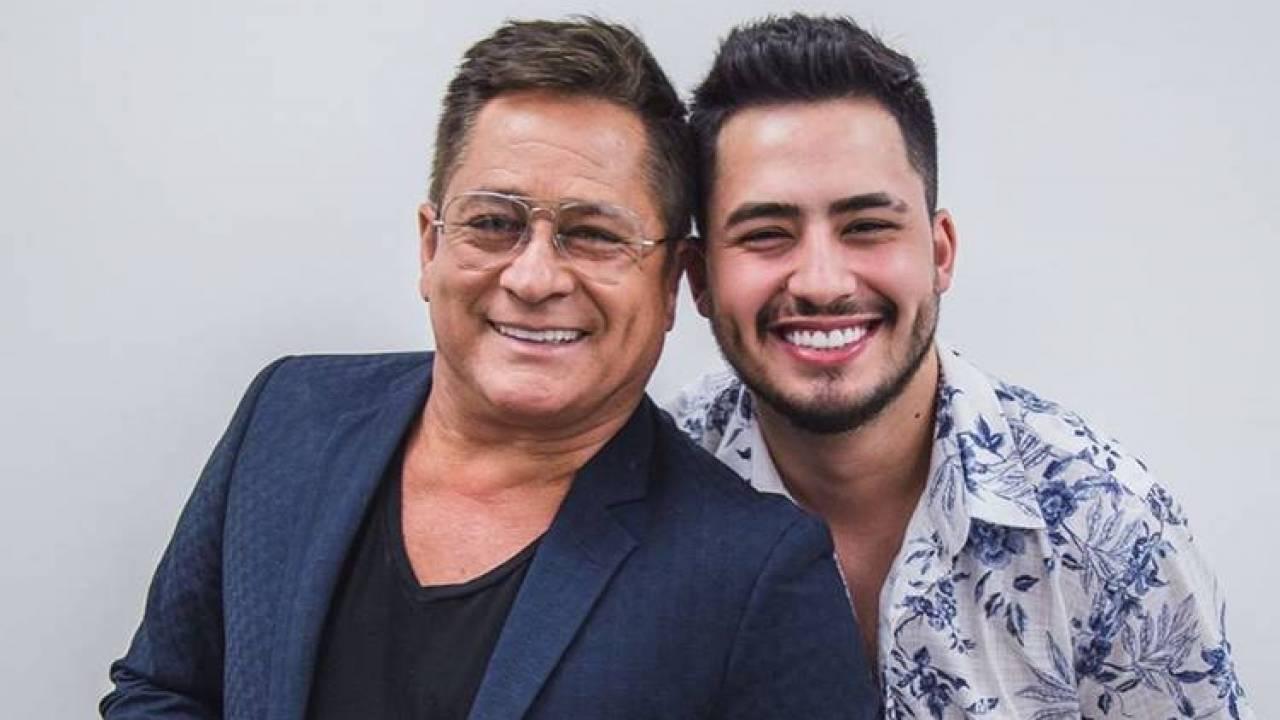 Matheus e o pai, o cantor Leonardo