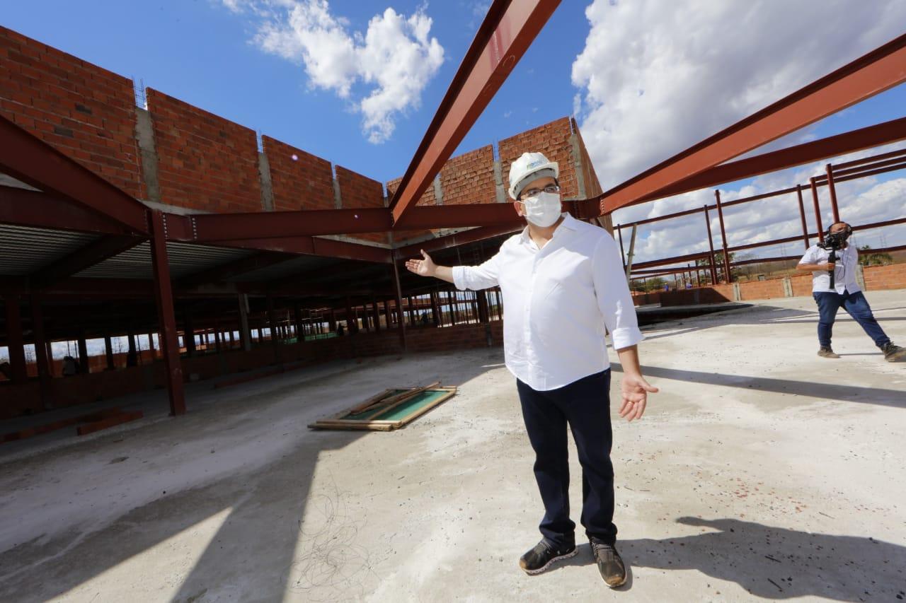 O secretário de Estado da Fazenda e coordenador do PRO Piauí, Rafael Fonteles, visitou a obra - Foto: Ccom