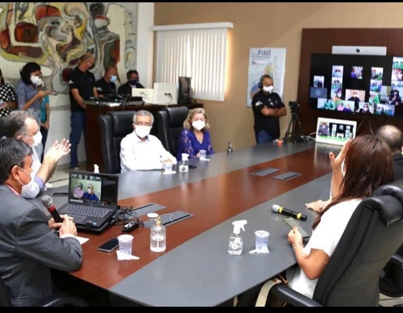Governador Wellington Dias participou, por videochamada, do lançamento do Marco Regulatórioa da Laparoscopia