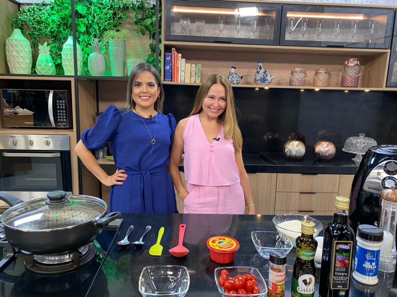 Apresentadora do programa Espaço Gourmet, Lia Formiga e a presidente do Grupo Vanguarda, Van Fernandes