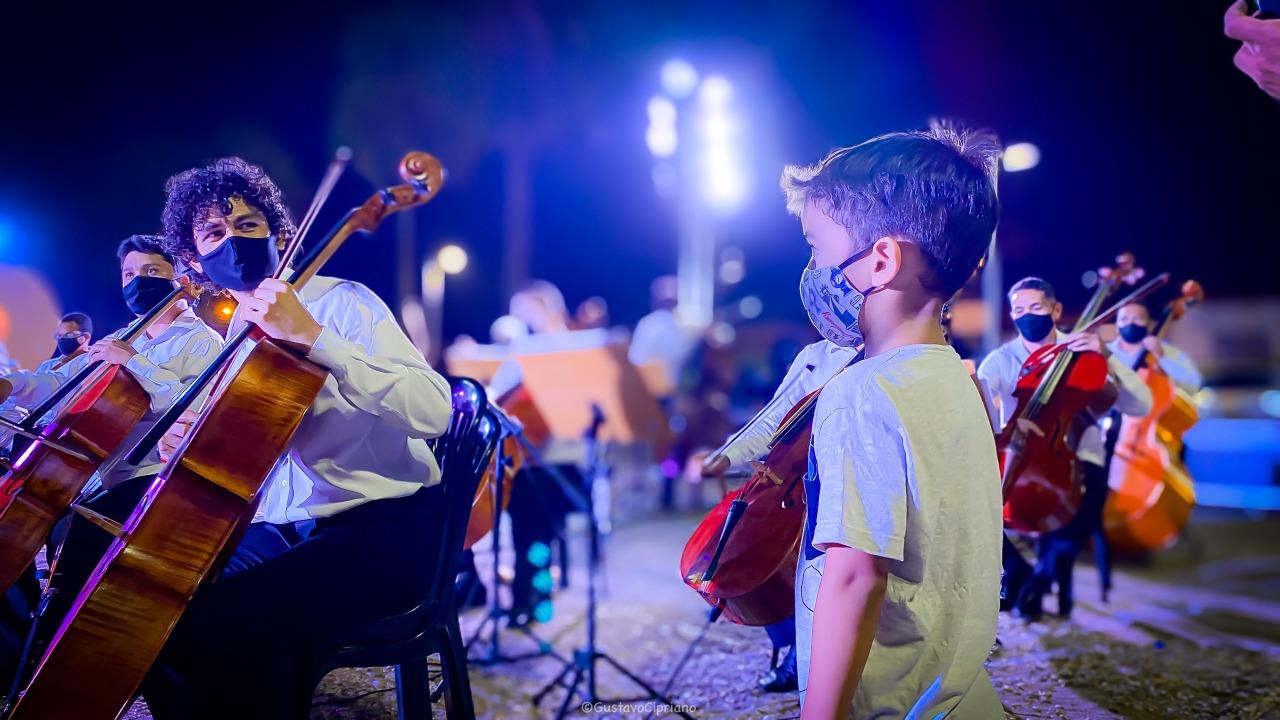 """Projeto 'Sinfonia nos Bairros"""" volta a se apresentar de forma presencial em Teresina (Crédito: Gustavo Cipriano / Ascom: FMC)"""