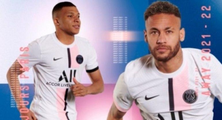 Estrelas do clube divulgam novo uniforme do PSG. (Foto: divulgação-PSG)