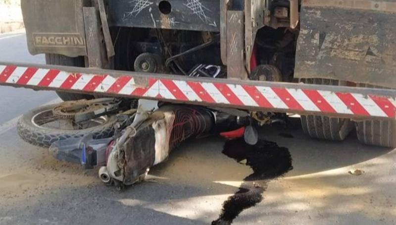 Idoso morre atropelado por caminhão caminhão no bairro Alto Alegre no município de Bom Jesus- Foto: Ronilton Leal/Portal Ponto X