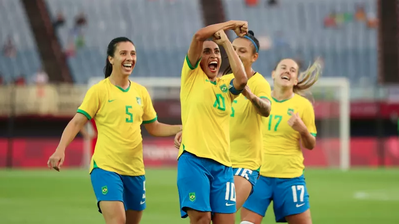Marta é a primeira jogadora a marcar em cinco edições olímpicas/ Foto: Molly DarlingtonMarta é a primeira jogadora a marcar em cinco edições olímpicas/ Foto: Molly Darlington