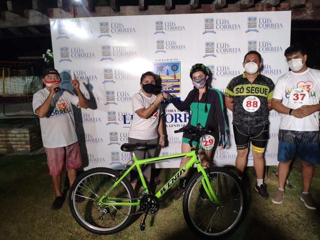 Passeio ciclistico fez parte das comemorações de Luís Correia/reprodução
