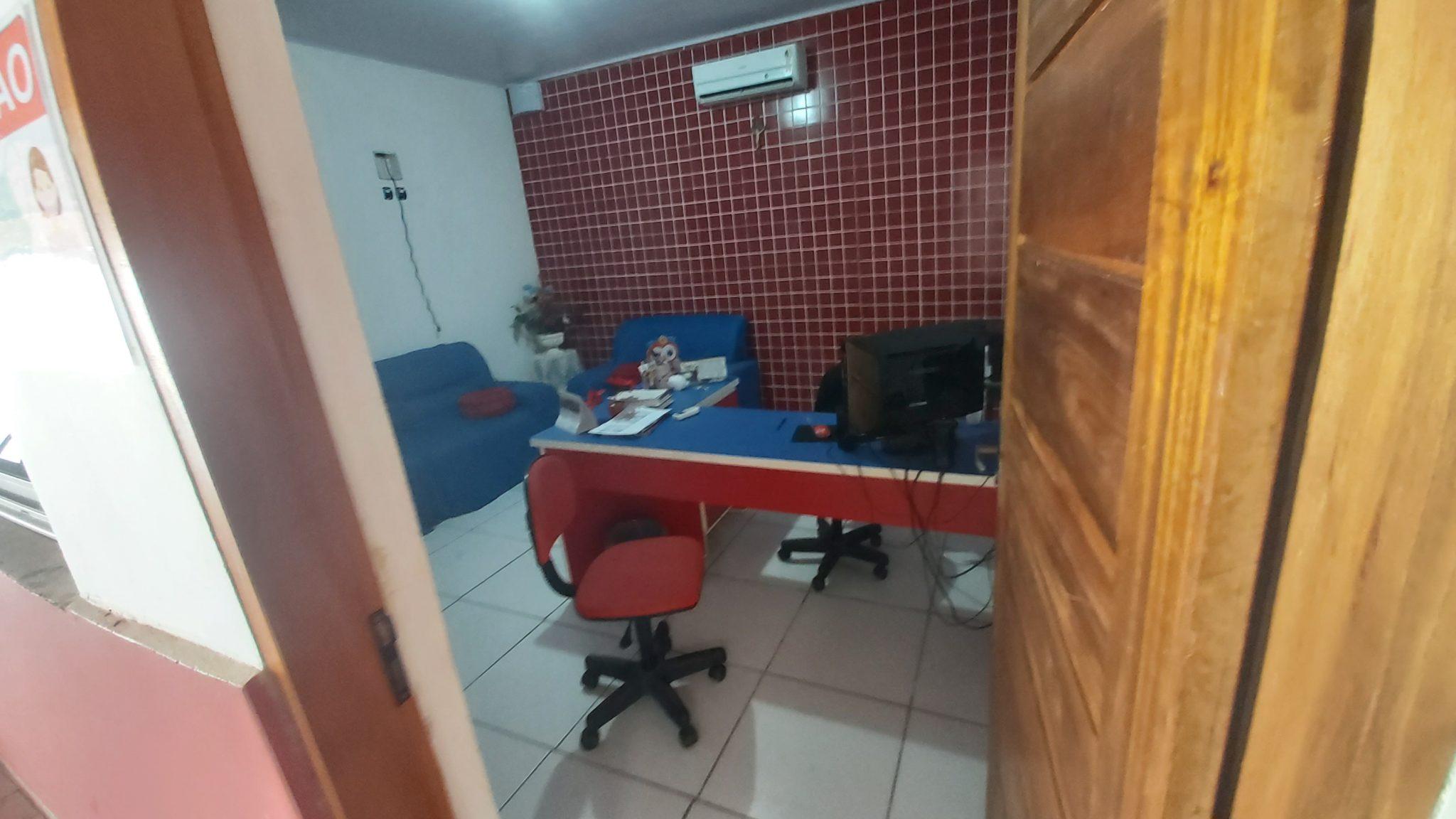 Sede do Sinte no município de José de Freitas. O suspeito arrombou o escritório da atual presidente, Professora Gorete