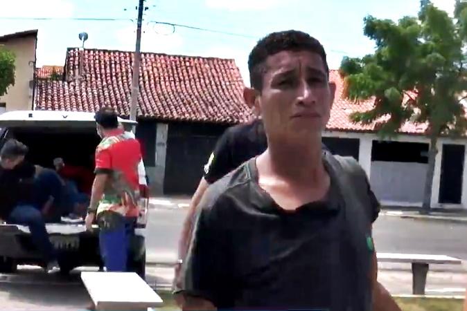Suspeito de agredir a própria esposa é preso no litoral do Piauí- Imagem: TV Costa NorteSuspeito de agredir a própria esposa é preso no litoral do Piauí- Imagem: TV Costa Norte