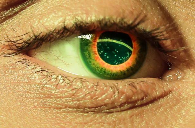 Mazzo ganhou com uma prótese ocular de vidro com a bandeira do Brasil. (Foto: Wander Roberto-COB)