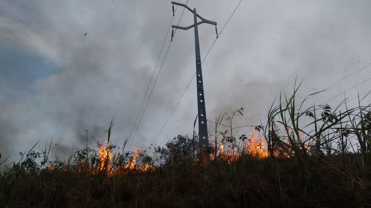 Queimadas podem causar podem causar interrupções no fornecimento de energia elétrica