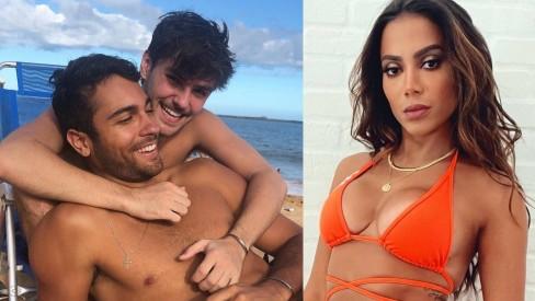 Vinicius Freitas com o namoradao Rafael Helmer; Anitta se interessou por jogador de vôlei