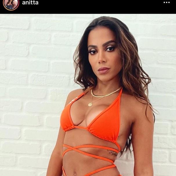 Fãs apontam uso de Photoshop em foto de Anitta (Foto: Reprodução Instagram)