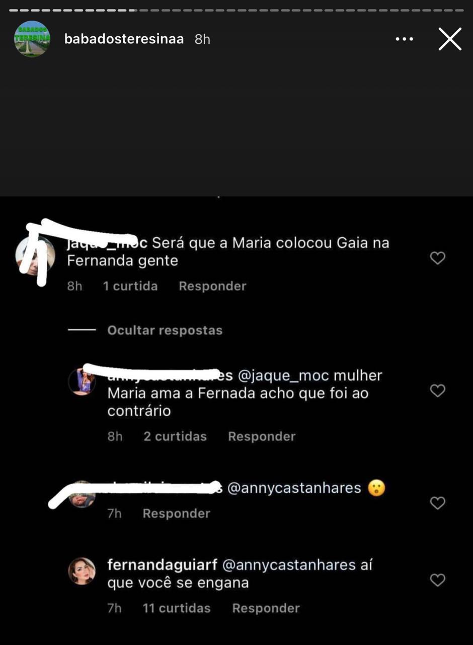 Fernanda Aguiar expõe suposta traição de Maria Clara; cantora nega - Imagem 1