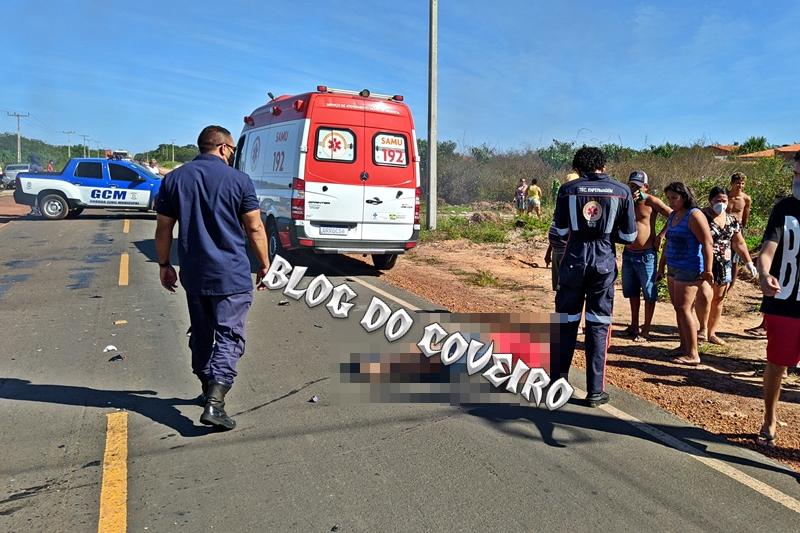 Vítima morreram ainda no local (Foto: Reprodução/ Blog do Coveiro)