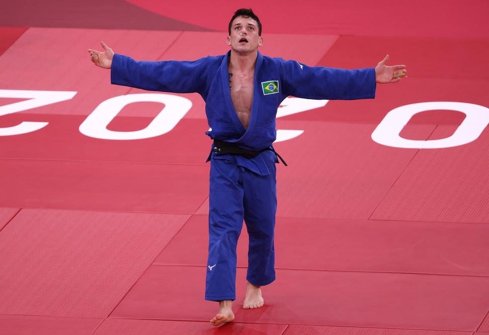 Daniel Cargnin conquista mendalha de bronze para o Brasil no Judô (Foto: Harry How/ Getty Imagens)