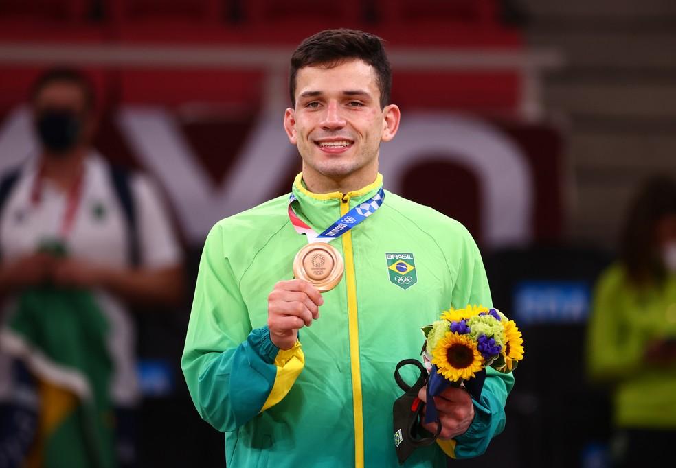 Brasil conquista primeiro bronze (Foto: Sergio Perez/ Reuters)