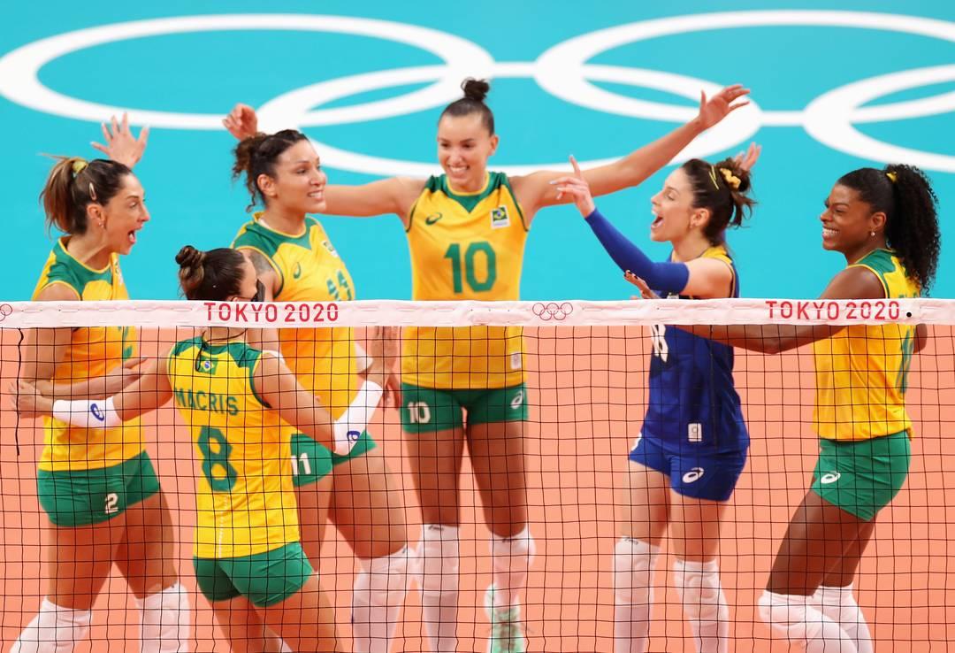 Brasil vence a Coreia do Sul por 3 Sets a 0 na estreia do vôlei feminino (Foto:Toru Hanai/ Getty Imagens)
