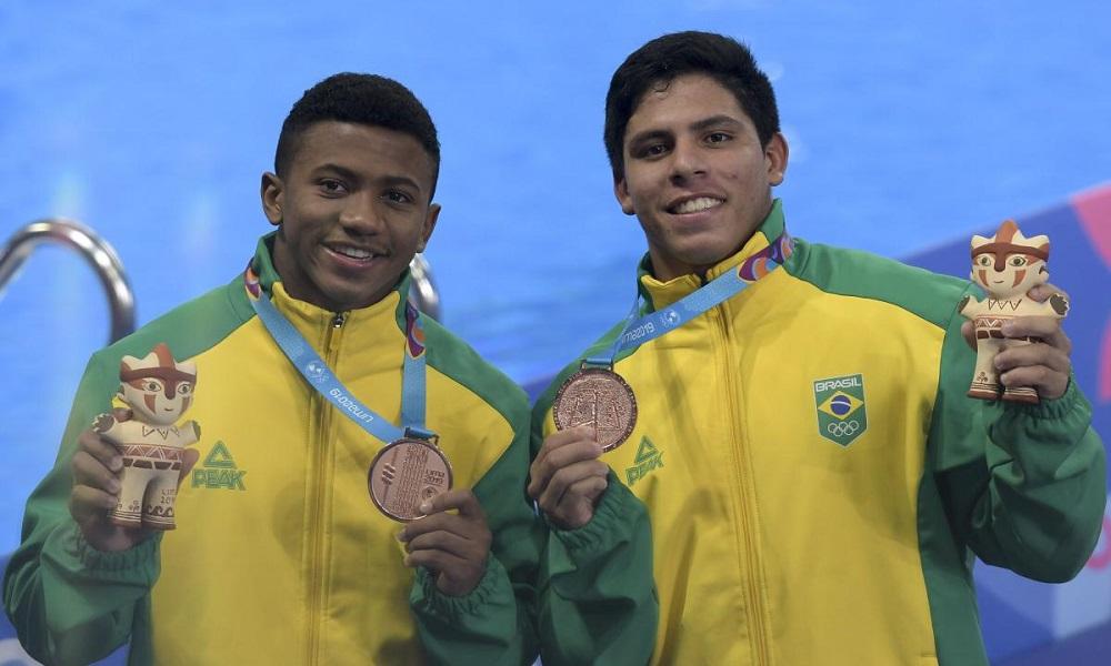 Isaac e Kawan com a medalha de bronze nos Jogos Pan-Americanos de Lima em 2019(Washington Alves/ COB)