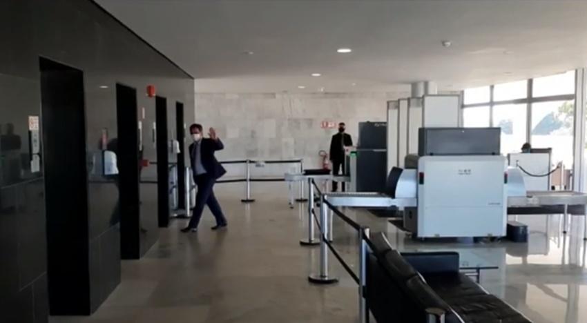 Ciro Nogueira chega ao Palácio do Planalto - Imagem: Reprodução/TV Globo