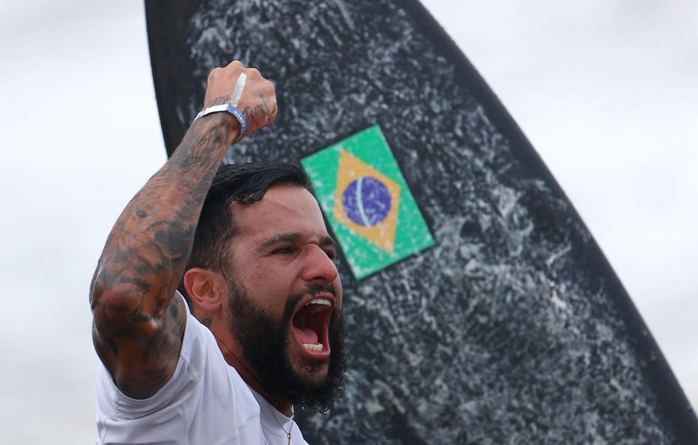 Italo Ferreira garante 1ª medalha de ouro do Brasil em Tóquio REUTERS/Lisi Niesner