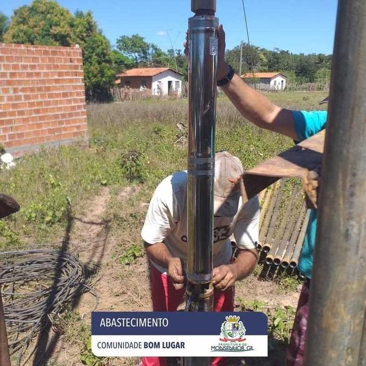 Prefeitura de Monsenhor Gil levando Água para as áreas rurais e urbana - Imagem 4