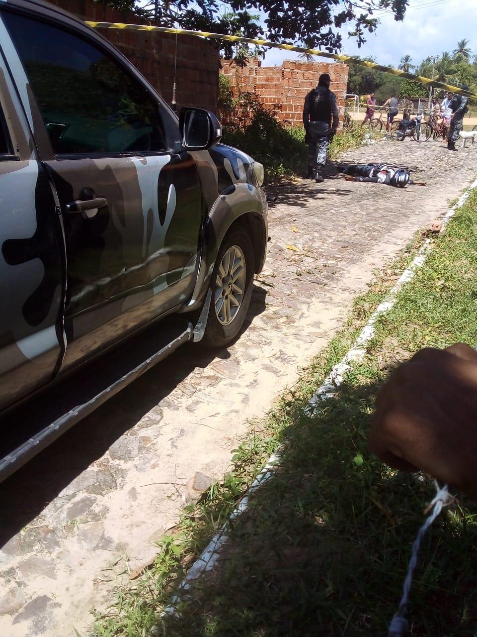 Mototaxista é morto durante assalto em Parnaíba (Foto: Reprodução/ WhatsApp)