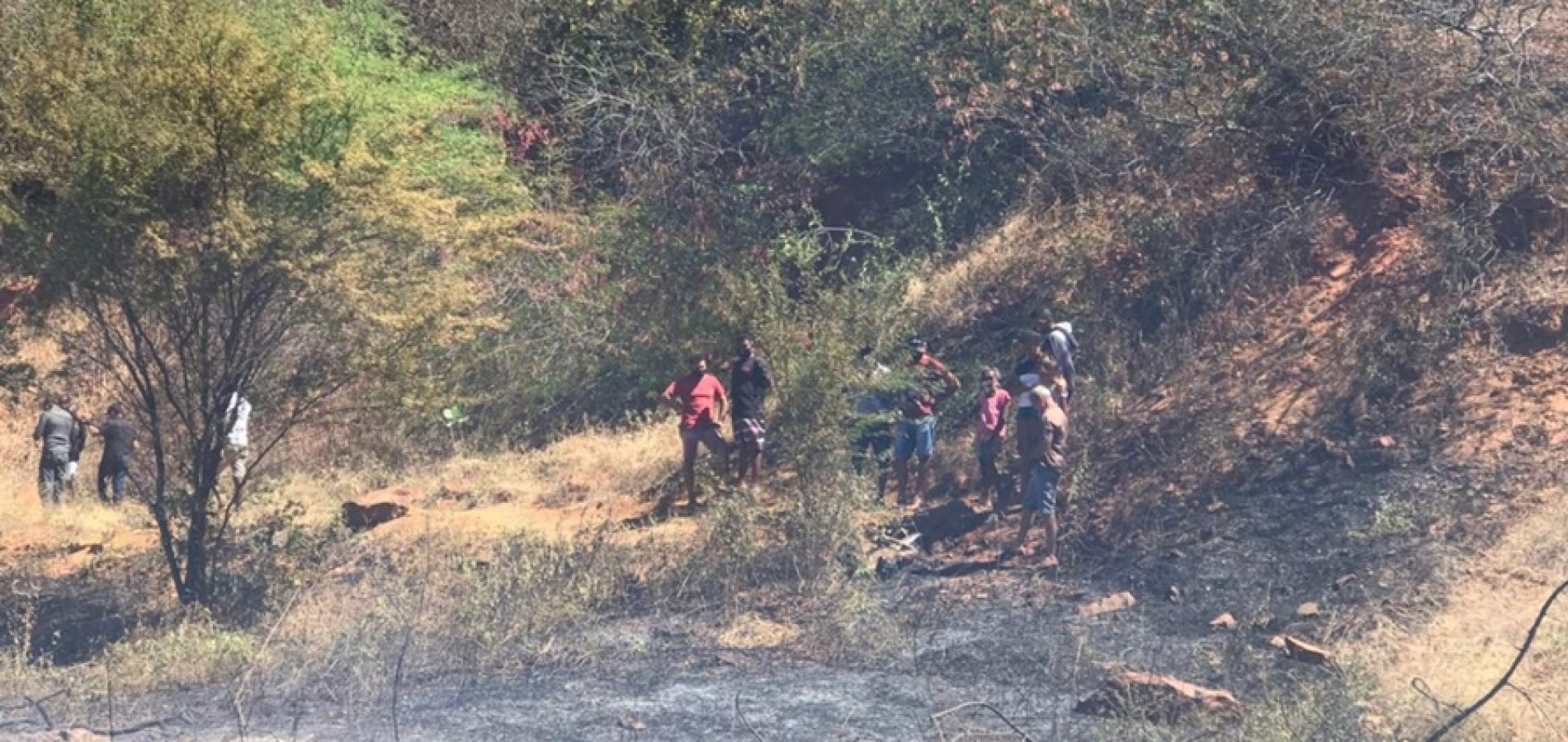 Local que o corpo foi encontrado (Foto: Redes sociais)