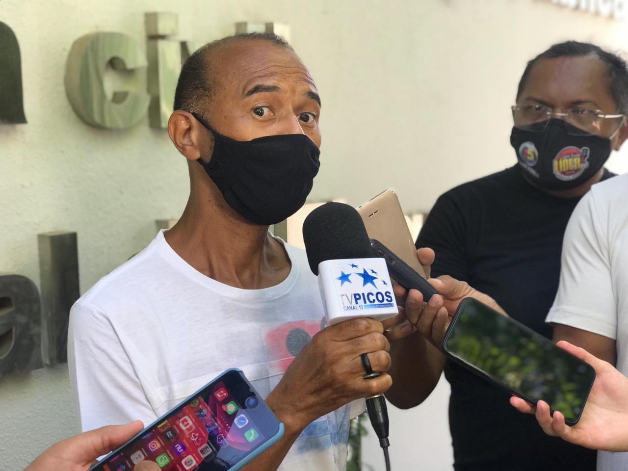Tio da vítima, Francisco das Chagas de Sousa. (Foto: Wesley Monteiro)