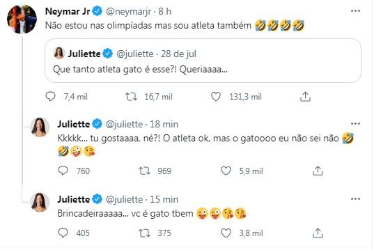 Juliette foge de investidas de Neymar | FOTO: Reprodução