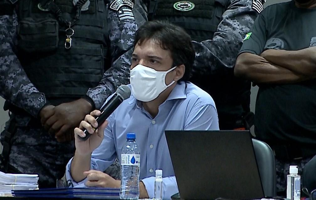 Lucas Porto fala durante julgamento - Foto: Reprodução