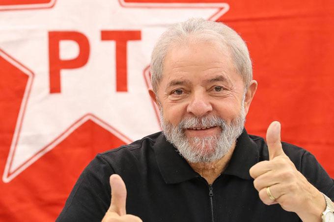 Luiz Inácio Lula da Silva aparece em primeiro lugar na pesquida da CNT. Crédito: PT.