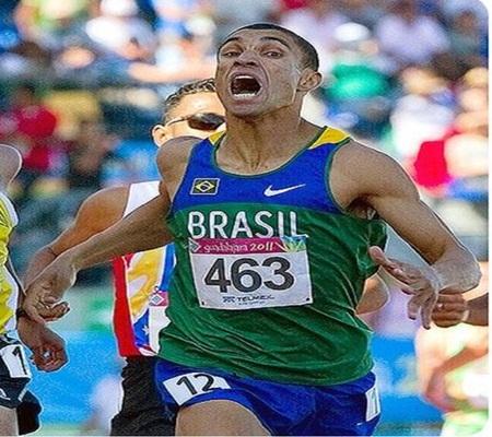 Leandro Prates Oliveira venceu competição de atletismo dos 1500 metros rasos . (Foto: Redes Sociais)