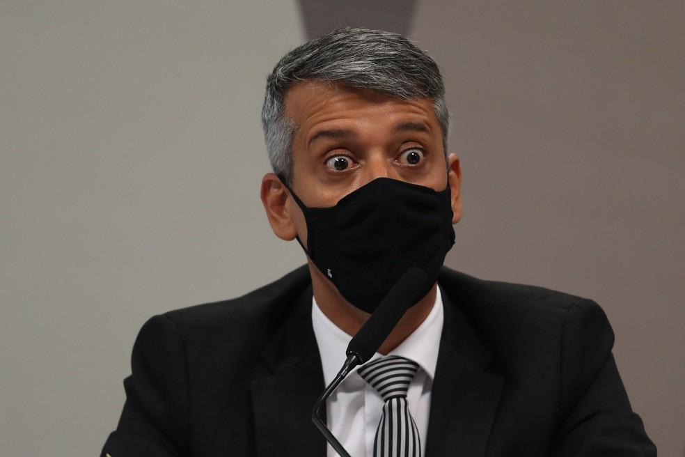 Ex-diretor do Ministério da Saúde, Roberto Dias foi preso durante a CPI da Covid Foto: Marcos Oliveira- Agência Senado