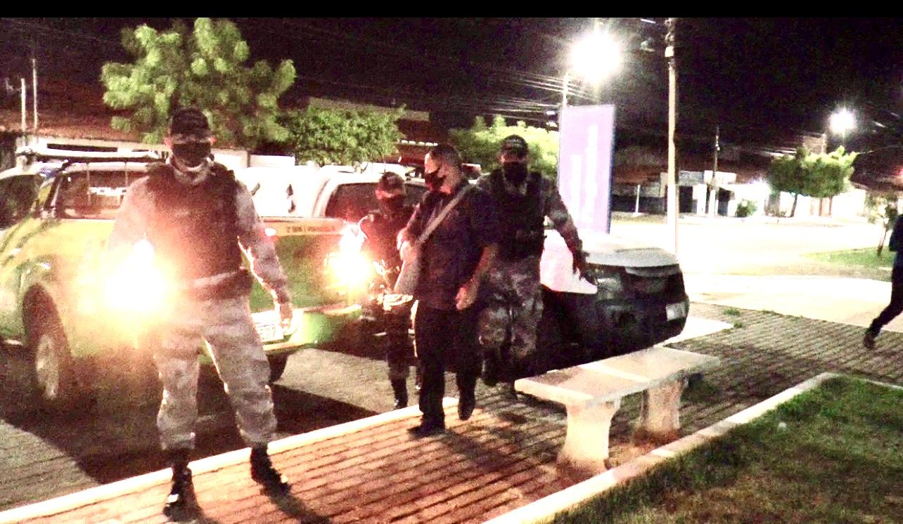 Momento da prisão do empresário em Parnaíba na Piauí- Foto: portalhmonline.com.br