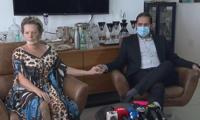 Joice Hasselmann e o marido, Daniel França   Reprodução/TV Globo