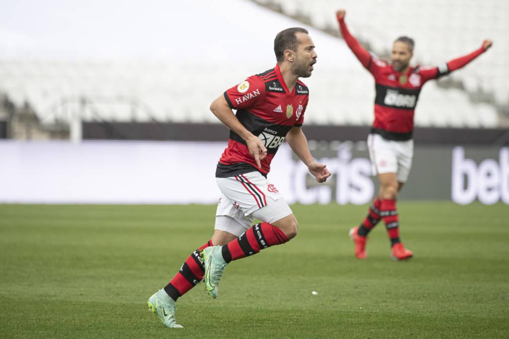Flamengo sobra diante do Corinthians e vence por 3 a 0 na Arena (Foto: Alexandre Vidal/ Divulgação)Flamengo sobra diante do Corinthians e vence por 3 a 0 na Arena (Foto: Alexandre Vidal/ Divulgação)