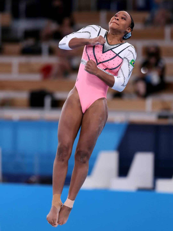 Rebeca Andrade nas Olimpíadas (Foto: Ricardo Bufolin/ Panamerica Press/ CBG)