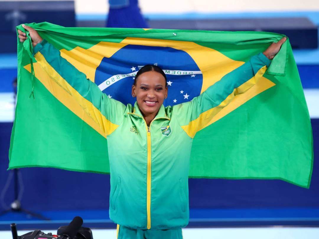 Rebeca Andrade é ouro nas Olimpíadas (Foto: Ricardo Bufolin/ Panamerica Press / CBG)