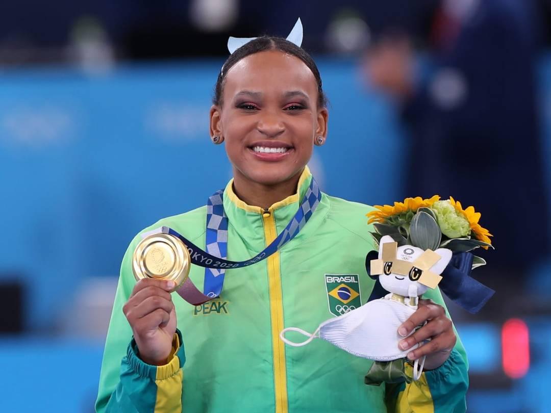 Rebeca Andrade é ouro nas Olimpíadas (Foto: Ricardo Bufolin/ Panamerica Press/ CBG)