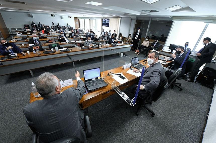 Plenário da CPI da Pandemia, no Senado (Edilson Rodrigues/Agência Senado)
