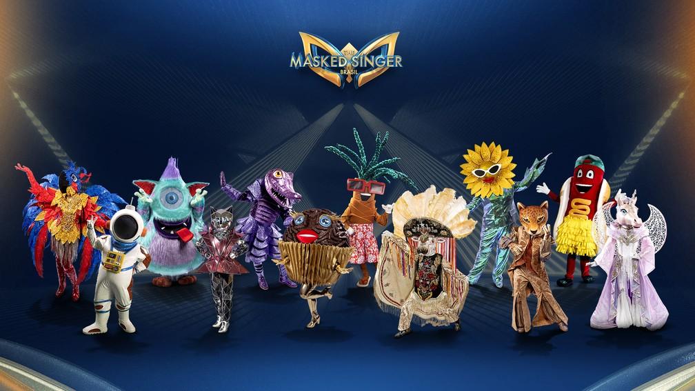 Confira as fantasias que vão se apresentar no programa The Masked Singer Brasil. (Foto: Reprodução)