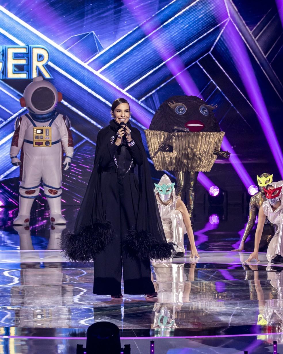 Ivete Sangalo deu um show de simpatia e bom humo na apresentação do programa. (Foto: Globo - Kelly Fuzaro)